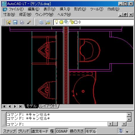 オートキャド(AutoCAD)の平面図